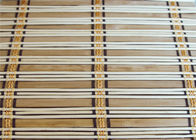 Eco Friendly Natural Bamboo Blinds , Motorized Outdoor Roll Up Bamboo Shades