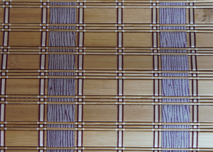 Roman Style Natural Bamboo Blinds , Bamboo Roll Up Window Blind Custom Color