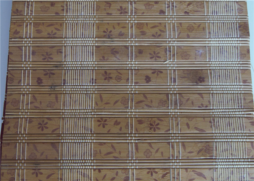 Insect Resistant Outdoor Bamboo Window Blinds Weaving With Raffia
